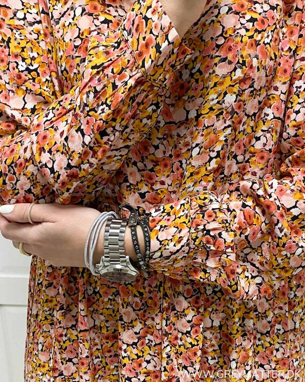 Kjole fra Pieces med lange ærmer