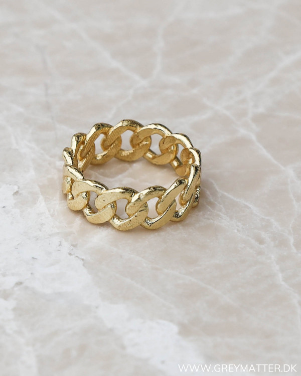 Panzer ring i guld fra Pure By Nat