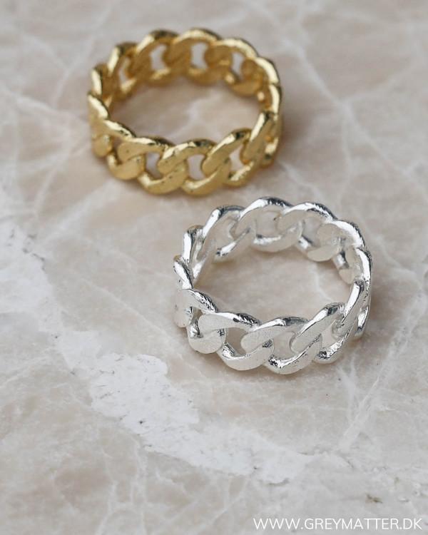 Silver Panzer Ring og guld