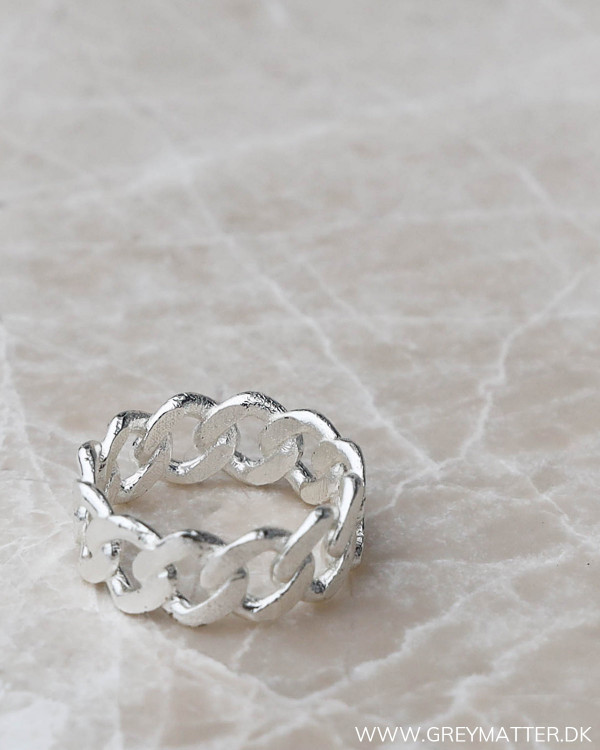 Silver Panzer Ring fra Pure By Nat