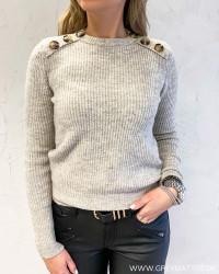 Vinora Natural Melange Button Knit