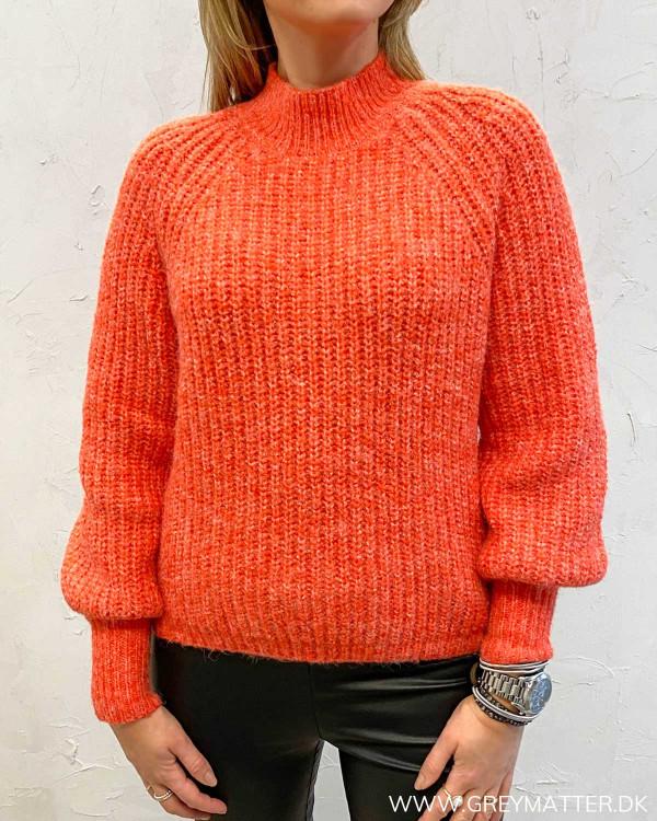 Rød strik trøje Pctessi blouse