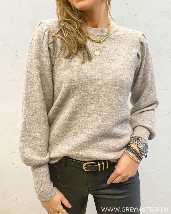 Pcpam Warm Taupe O-Neck Knit