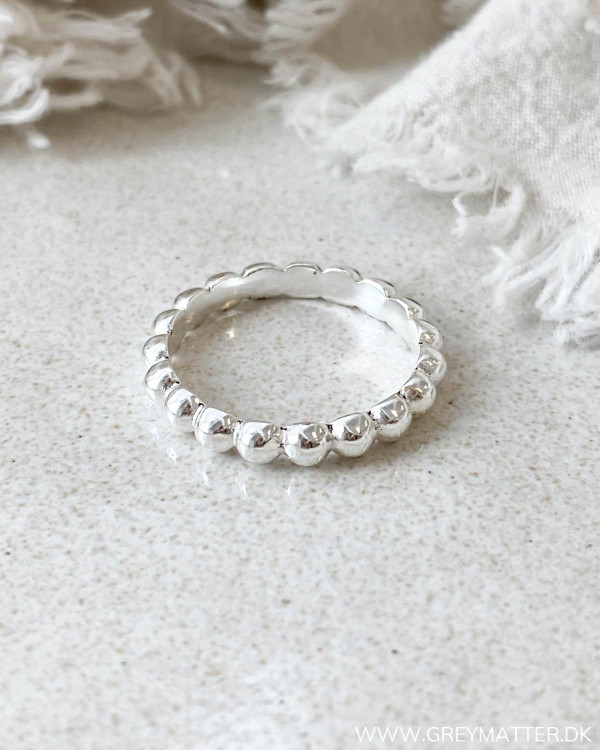 Pure By Nat Small Dot Silver Ring