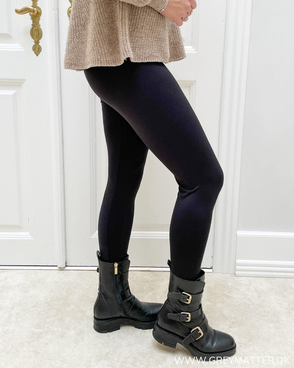 Sorte leggings i stretchy kvalitet