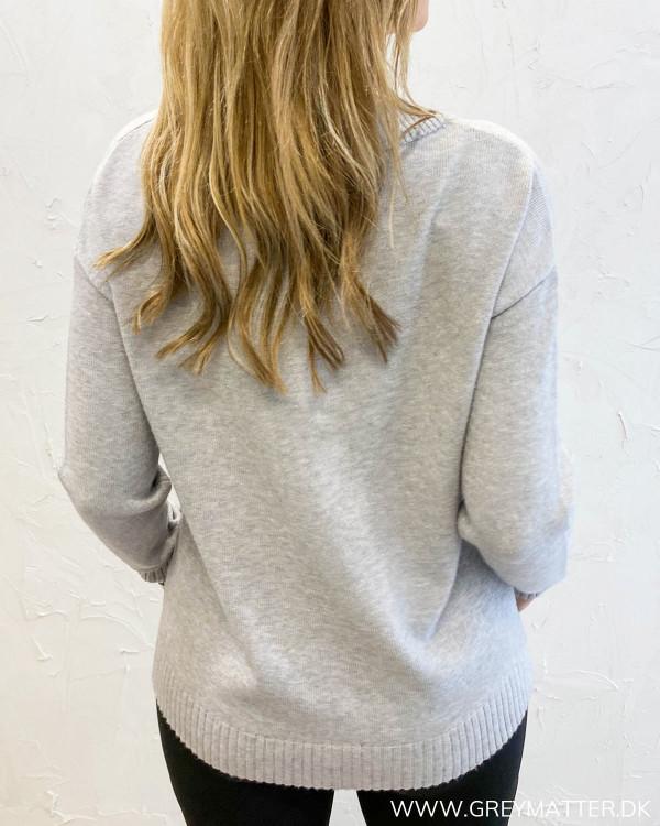Viril Oversize Light Grey Melange Knit
