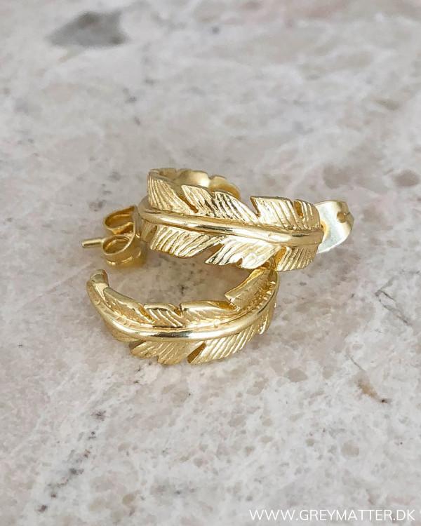 Feather Golden Earrings