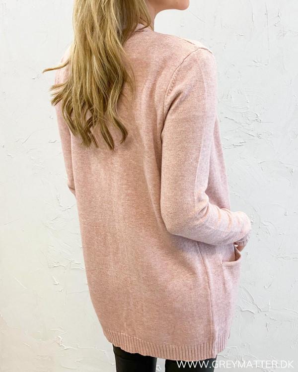 Viril Open Pale Mauve Knit Cardigan