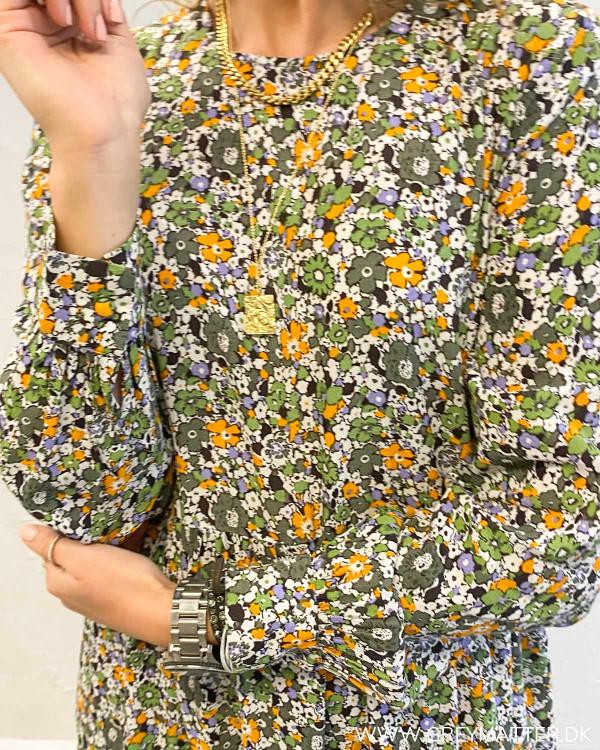 Midi dress fra Pieces i grønne farver