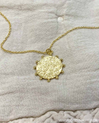 Golden Circle Structured Necklace