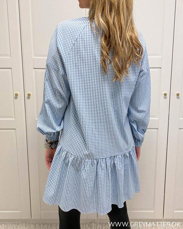 Pccade White Blue Check Dress