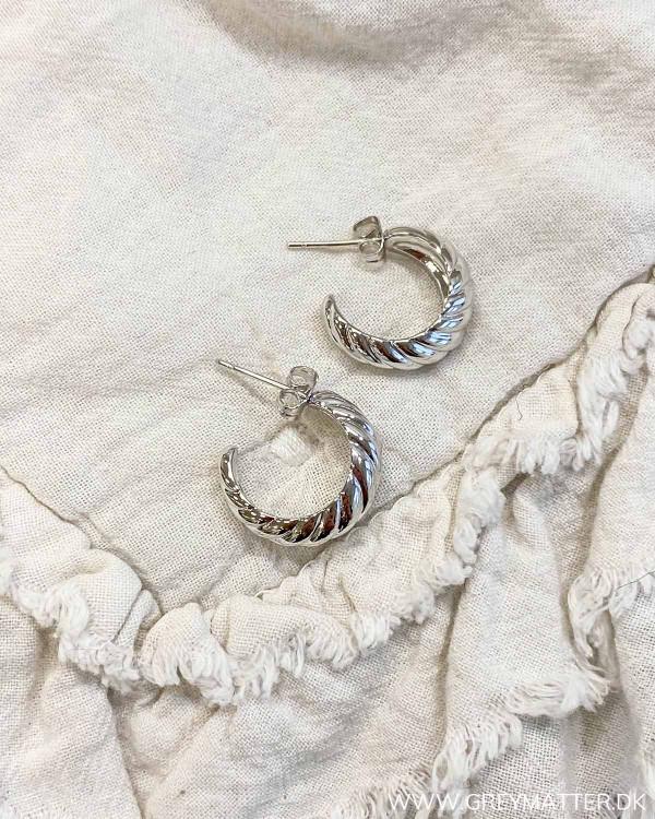 Sølv Øreringe Grey Matter