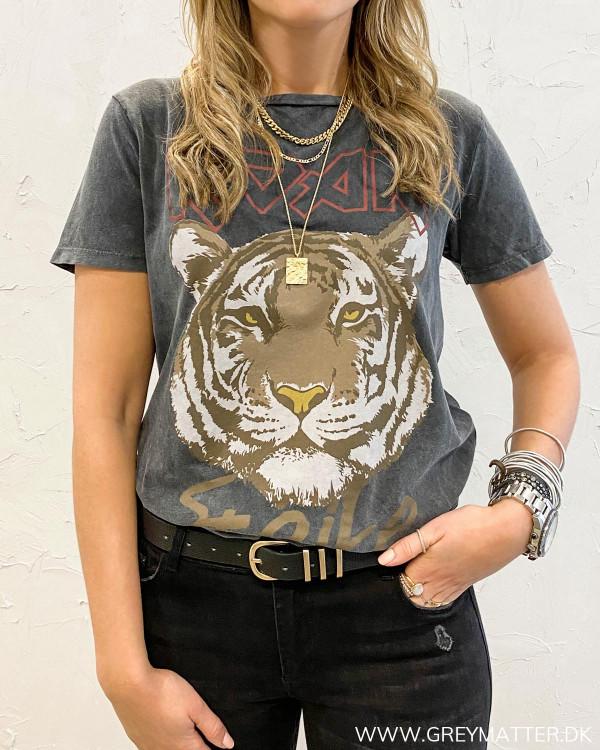Tiger t-shirt med vintage tiger print