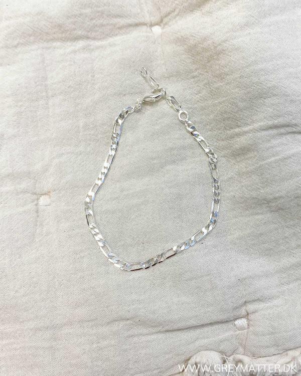 Sølv panser kæde armbånd Grey Matter