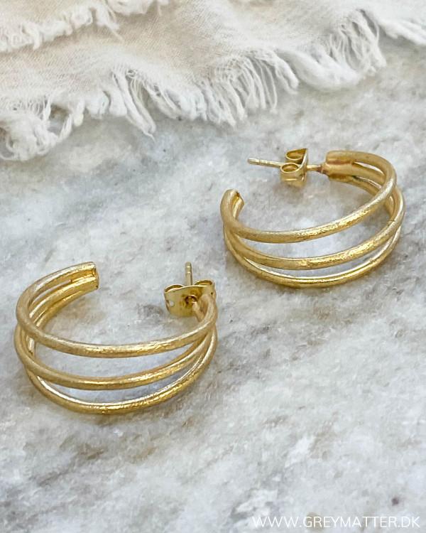 Triple Golden Hoop Earrings