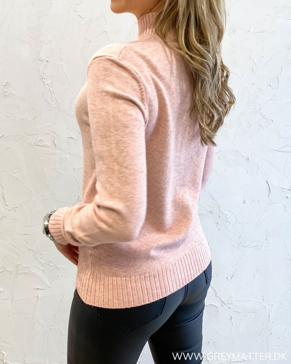 Viril Turtleneck Misty Rose Knit