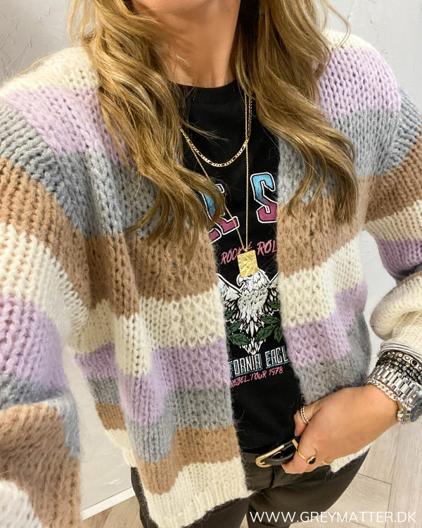 Pclilo Orchid Bloom Block Knit Cardigan