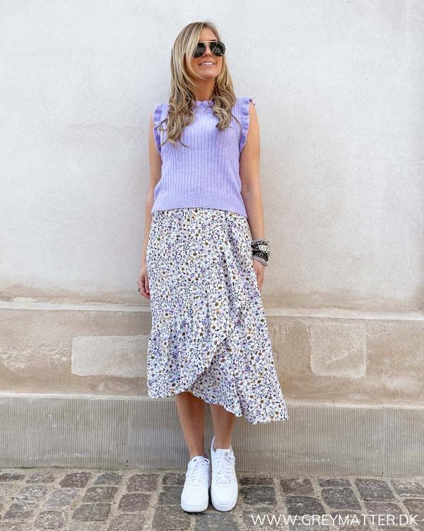 Veste til damer stylet med blomsterprint nederdele