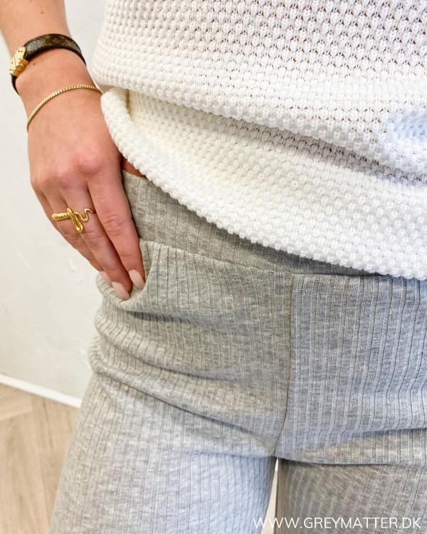 Pcmolly Light Grey Melange Pants