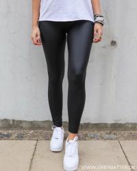 Pcnew Shiny Black Leggings