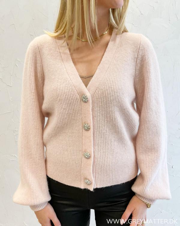 Gimma Diamond Light Pink Knit Cardigan