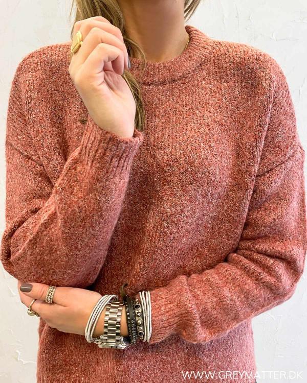 Onyzoey Red Ochre Melange Pullover Knit