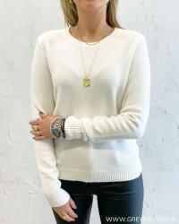 Viril White Alyssum O-Neck Knit