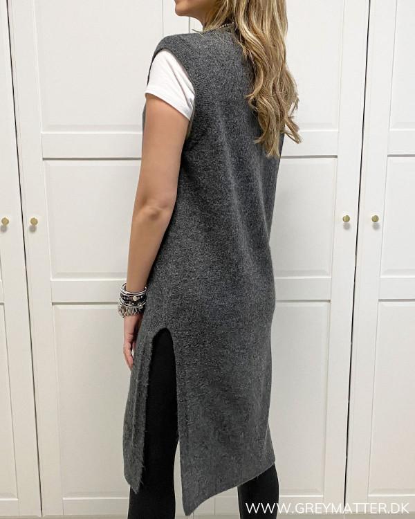Onlmadeline Dark Grey Melange Vest Knit