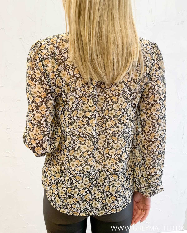 Viforally Black Flower Shirt