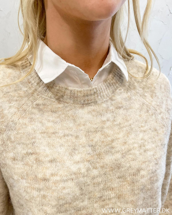 Onlshelly Life Weaved Bright White Collar