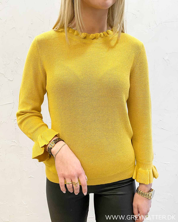 Vioalit O-Neck Spicy Mustard Knit