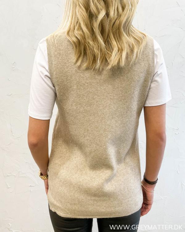 Viril V-Neck Natural Melange Knit Vest