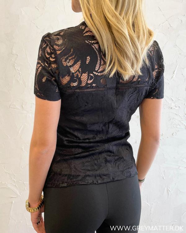 Vistasia Black Lace S/S Top