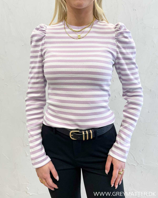 Pcanna Orchid Bloom Striped L/S Top