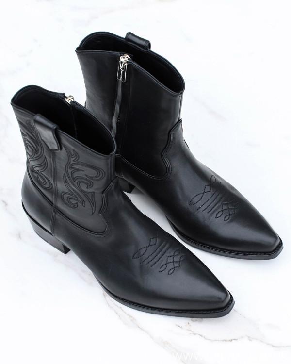 Anine Bing Elton Solid Black Boots