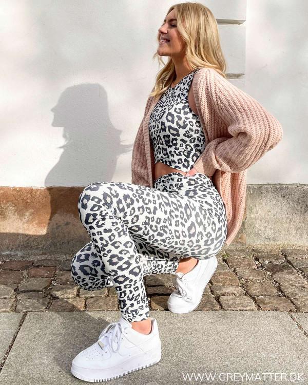 Onlbalance Grey Leopard Leggings