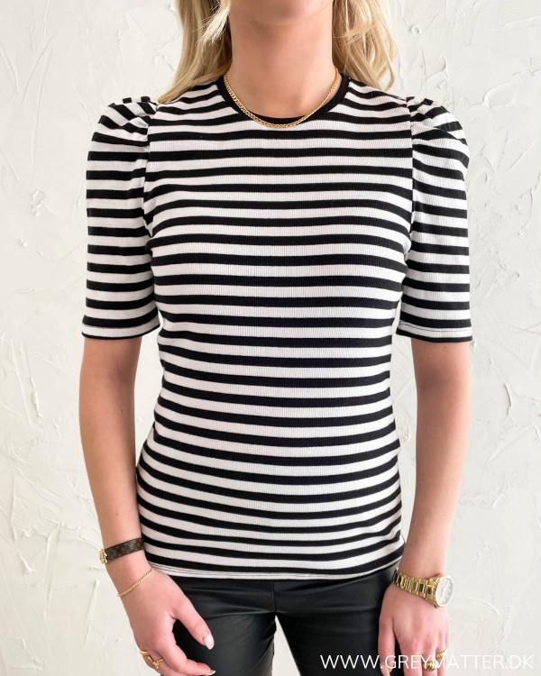 Pcanna Black Striped S/S Top