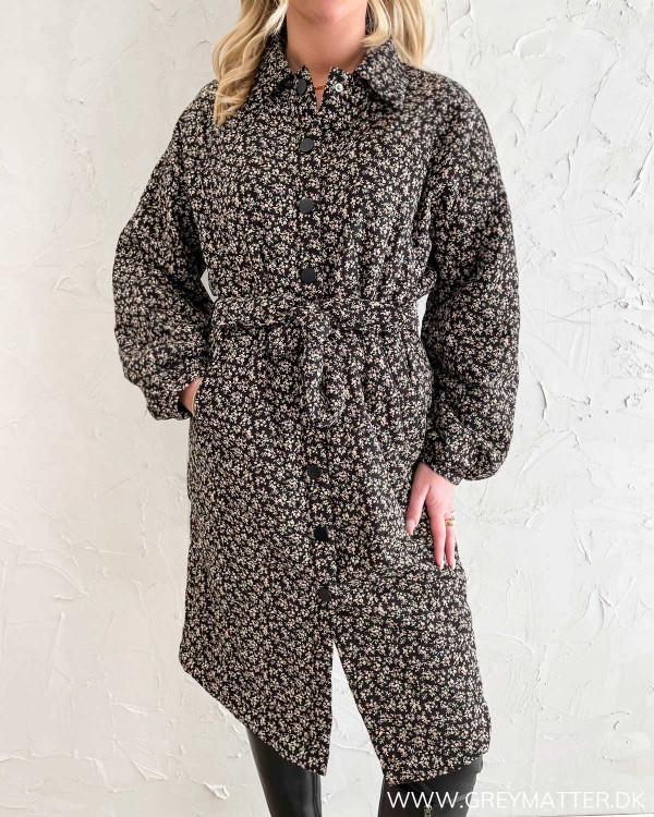 Vibenda Black Long Quilted Jacket