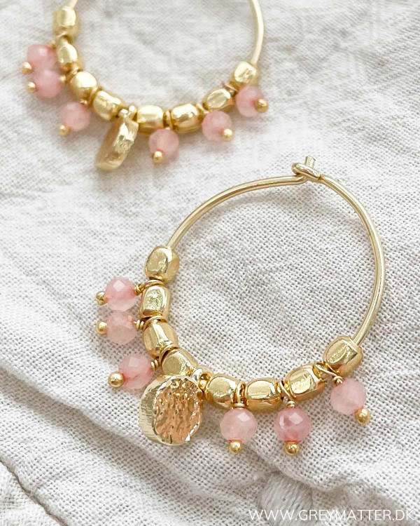 Twinkle Pink Creol Hoops