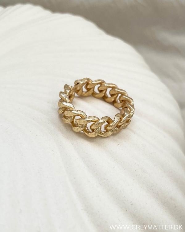 Golden Cuban Chain Ring