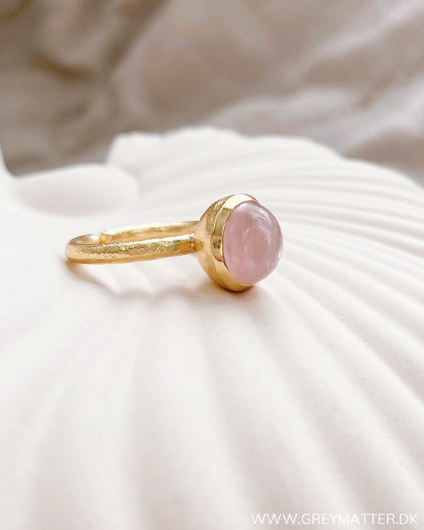 Golden Rose Quartz Ring