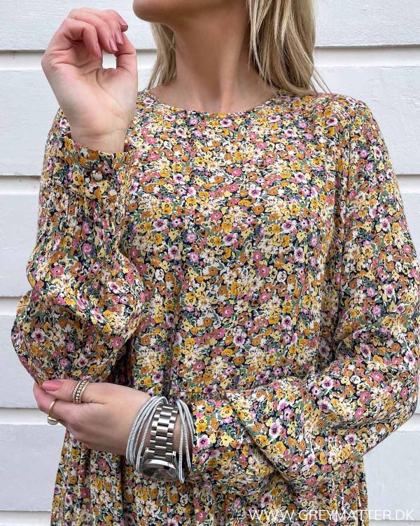 Pcgry Black Flowers L/S Midi Dress