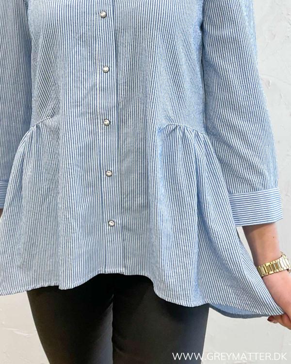 Onlnew Canberra White Blue Stripe Shirt
