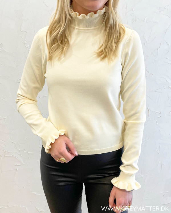 Onlsally L/S High Necke Pumice Stone Pullover Knit