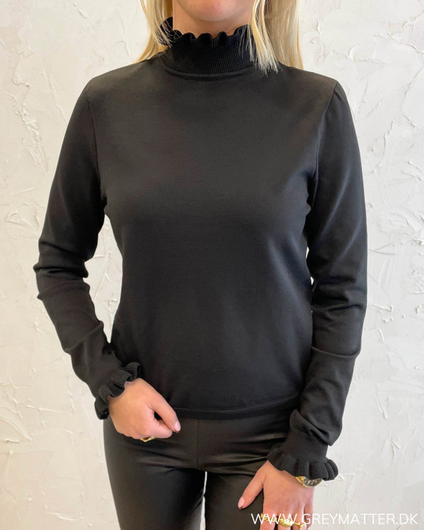 Onlsally L/S High Necke Black Pullover Knit