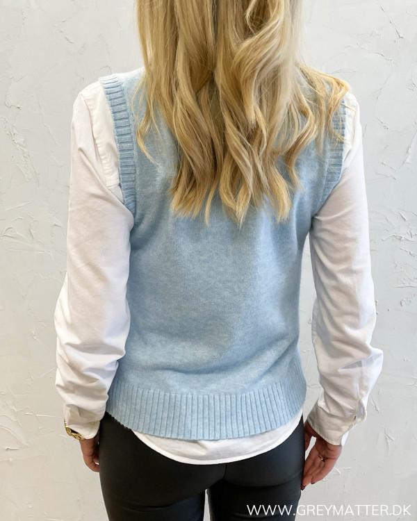 Viril Cashmere Blue O-Neck Knit Vest