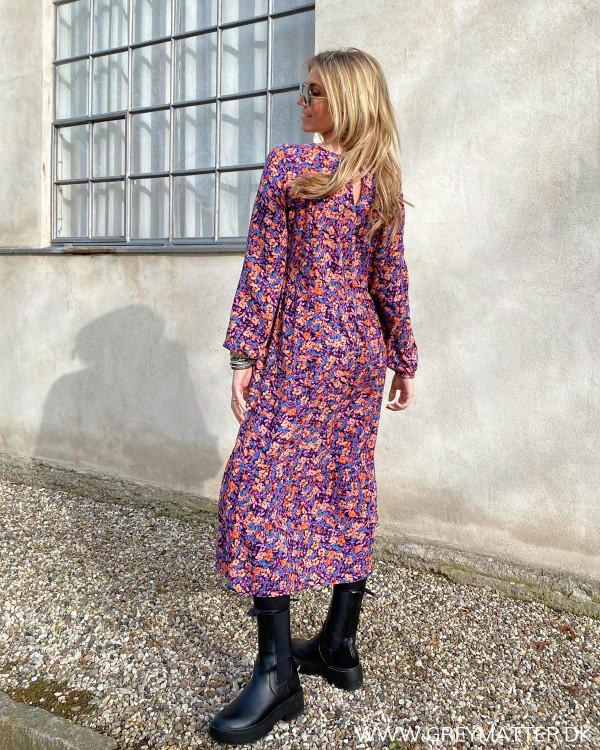 Pclubbie Artsy Flower L/S Midi Dress