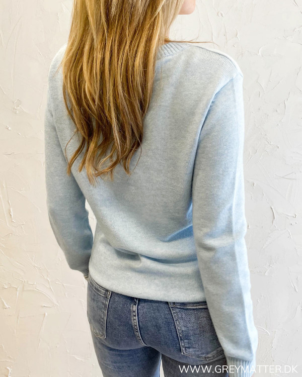 Viril Cashmere Blue O-Neck L/S Knit
