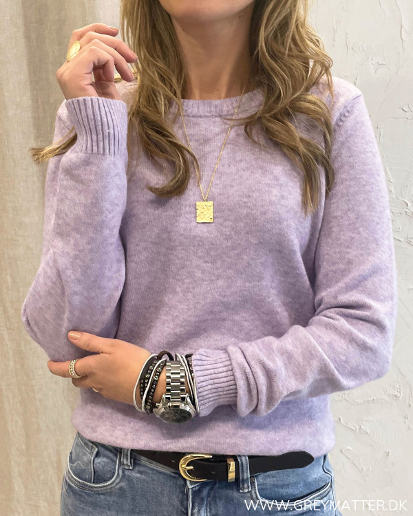 Lavendelfarvet bluse til damer