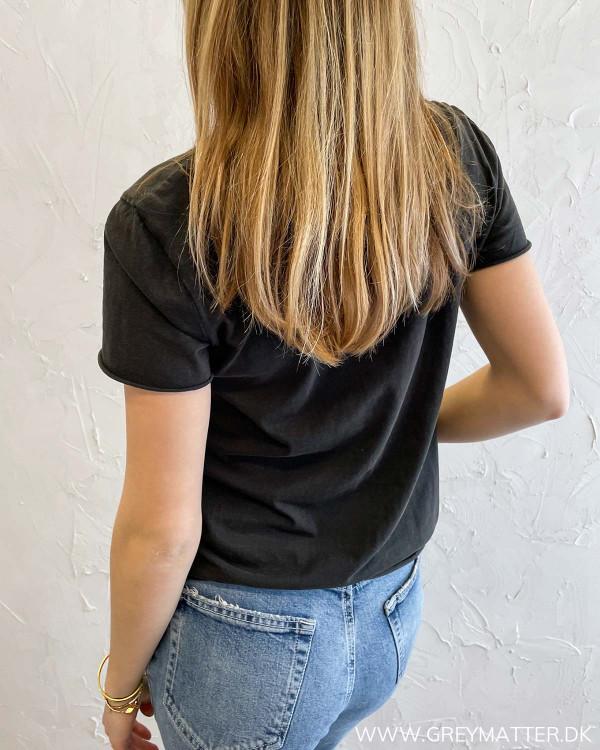 T-shirt med tryk til damer